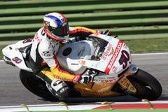 Sylvain Guintoli - Ducati1098R - Vrijheid Effenbert Royalty-vrije Stock Foto