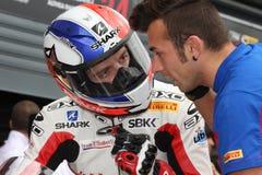 Sylvain Guintoli - Ducati1098R - Vrijheid Effenbert Royalty-vrije Stock Afbeelding