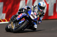 Sylvain Guintoli - FRA Yamaha YZF R1 Pata Yamaha Official WorldSBK Team royalty free stock photo