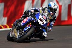 Sylvain Guintoli - gruppo di FRA Yamaha YZF R1 Pata Yamaha Official WorldSBK fotografia stock libera da diritti