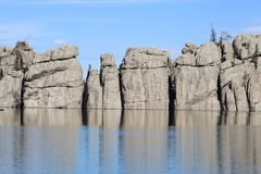 Sylvan湖在Custer国家公园南达科他 免版税库存图片