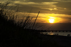 Sylvan Beach Sunset Arkivfoton