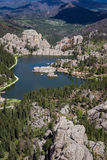 Sylvan lake, Aerial view Stock Photo