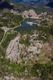 Sylvan lake, Aerial view Stock Image