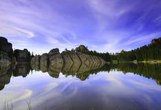 Sylvan lake. Custer State Park, South Dakota mirror reflection Royalty Free Stock Image