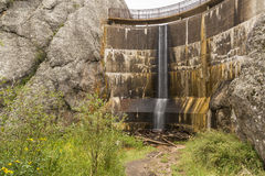Sylvan Lake Dam royaltyfria bilder