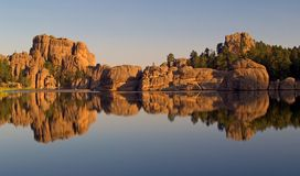 Sylvan Lake Reflection Stock Images