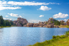 Sylvan Lake Rock Formations Arkivbilder