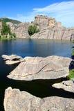 Sylvan Lake - South Dakota. Huge rocks in beautiful Sylvan Lake of Custer State Park in South Dakota Royalty Free Stock Images