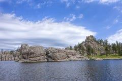 Sylvan Lake in South Dakota. The rocky landscape surrounding the famous Sylvan Lake near Custer, South Dakota Royalty Free Stock Photography