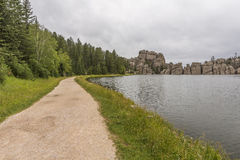 Sylvan Lake Trail royaltyfria foton