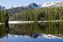 Sylvan Lake, Yellowstone National Park. Reflection on Sylvan Lake, Yellowstone National Park, Wyoming, USA Royalty Free Stock Photos