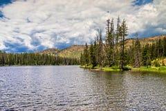 Sylvan Lake. In Yellowstone National Park stock images