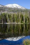 Sylvan Lake, Yellowstone National Park, USA. Reflection on Sylvan Lake, Yellowstone National Park, Wyoming, USA Stock Photos