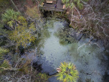 Sylvan Springs en overziet - Antenne Stock Afbeelding
