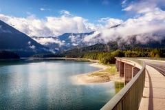 Sylvenstein lake Royaltyfri Fotografi
