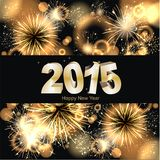 Sylvester background. Colorful Party background with firework and 2015 Stock Photography