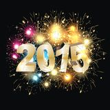 Sylvester 2015. Colourful fireworks party of the year 2015 Royalty Free Stock Photos