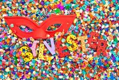 Sylvester en caractères en bois colorés Image libre de droits
