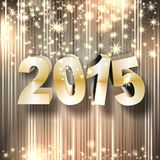 Sylvester 2015. Golden starts of the year 2015 Stock Images