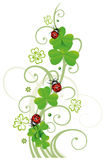 Sylvester, new years eve. Sylvester tendril, clover with ladybugs royalty free illustration