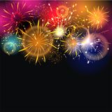 Sylvester 2015. Party background with firework of the year 2015 Stock Photos