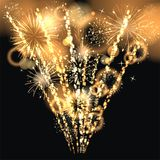 Sylvester 2015. Party background with firework of the year 2015 Royalty Free Stock Images