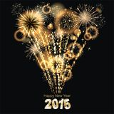 Sylvester 2015. Party background with firework of the year 2015 Stock Photography