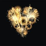 Sylvester 2015. Party background with firework of the year 2015 Royalty Free Stock Photo