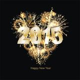 Sylvester 2015. Party background with firework of the year 2015 Royalty Free Stock Photography