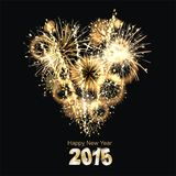 Sylvester 2015. Party background with firework of the year 2015 Stock Image