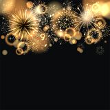Sylvester 2015. Party background with firework of the year 2015 Stock Photo