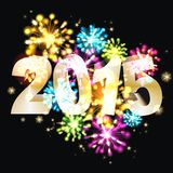 Sylvester 2015. Party background of the year 2015 Stock Photography