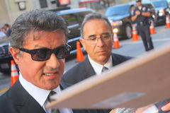 Sylvester Stallone. Sylvester signs autographs at Expendables 2, premiere Royalty Free Stock Photos