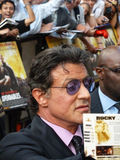 Sylvester Stallone At The Expendables Premiere. LONDON - August 9: Sylvester Stallone at The Expendables Premiere August 9th, 2010 in Leicester Square London Stock Photo