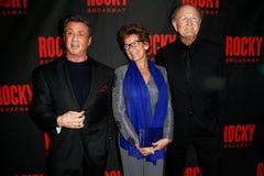 Sylvester Stallone, Janine Van Den Ende, Joop Van Den Ende Royalty Free Stock Images
