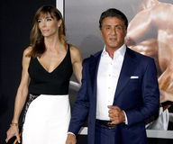 Sylvester Stallone and Jennifer Flavin Royalty Free Stock Photo