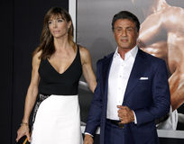Sylvester Stallone and Jennifer Flavin Stock Photography