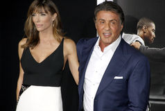 Sylvester Stallone and Jennifer Flavin Royalty Free Stock Images