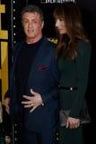 Sylvester Stallone, Jennifer Flavin Stock Photography