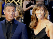 Sylvester Stallone and Jennifer Flavin Stock Images