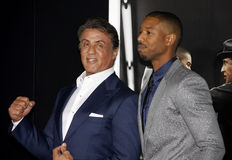 Sylvester Stallone and Michael B. Jordan Royalty Free Stock Photos