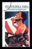 Sylvester Stallone Postage Stamp fotografía de archivo libre de regalías