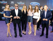 Sylvester Stallone, Scarlet Rose Stallone, Sistine Rose Stallone, Sophia Rose Stallone, Jennifer Flavin and Frank Stallone Stock Photo