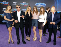 Sylvester Stallone, Scarlet Rose Stallone, Sistine Rose Stallone, Sophia Rose Stallone, Jennifer Flavin and Frank Stallone Royalty Free Stock Images