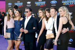 Sylvester Stallone, Scarlet Rose Stallone, Sistine Rose Stallone, Sophia Rose Stallone, Jennifer Flavin, Michael Rosenbaum and Ali Royalty Free Stock Photography