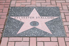 Sylvester Stallone star Stock Photo