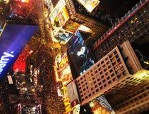 Sylvesterabende 2012 im Times Square, NYC Stockfotos