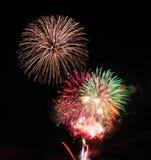 Sylvesterabende Feuerwerke über Tal, Oregon stockbild