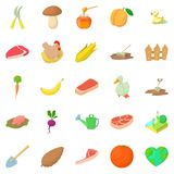Sylviculture icons set, cartoon style. Sylviculture icons set. Cartoon set of 25 sylviculture vector icons for web isolated on white background Royalty Free Stock Photography